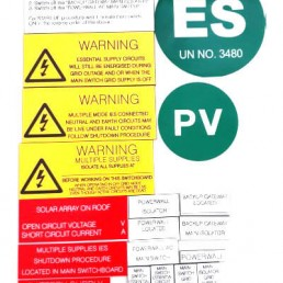 Battery Warning lable kit